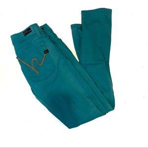 COH Jeans Ankle Length Skinny Leg Haley #258 Blue